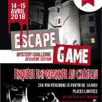 Un escape game ! le 14 & 15 Avril au château de St Mesmin