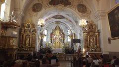 Intérieur de la basilique qui domine le sanctuaire ou nous logeons
