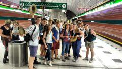 Le groupe du doyenné Nord-Beaujolais dans le métro de Prague