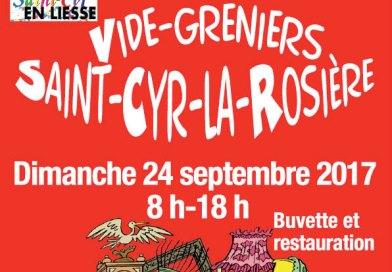 Vide-greniers à St Cyr le dimanche 24 septembre
