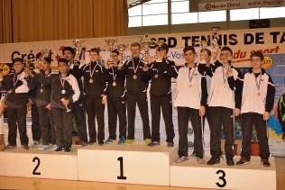 Le podium « Cadets ».