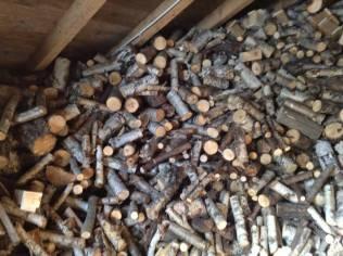 L'eau chaude sanitaire de la ferme-auberge est chauffée au bois.