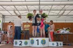 Le podium du relais 19 km féminin