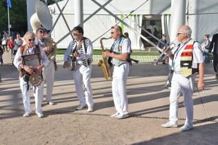 Plusieurs formations musicales ont arpenté la ville ce week-end.