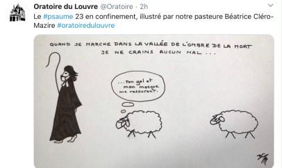 Dessin d'une pasteure à l'Oratoire du Louvre