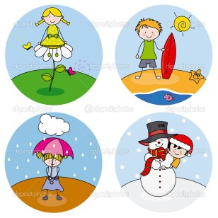 depositphotos_32034987-Children-showing-the-four-seasons
