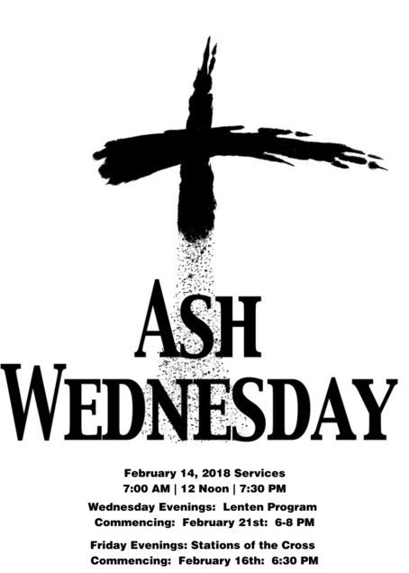 Ash Wednesday and Lenten Programs