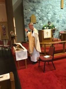 Father Bateman Celebrating Easter Vigil 2019