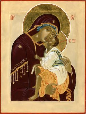 """The Most Holy Theotokos, """"Sweet-kissing."""""""