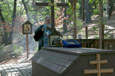 Memorial service to Fr. Seraphim at his grave.