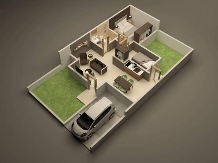 17 Contoh Denah Rumah Minimalis 2020 Modern Nyaman Dan Sederhana