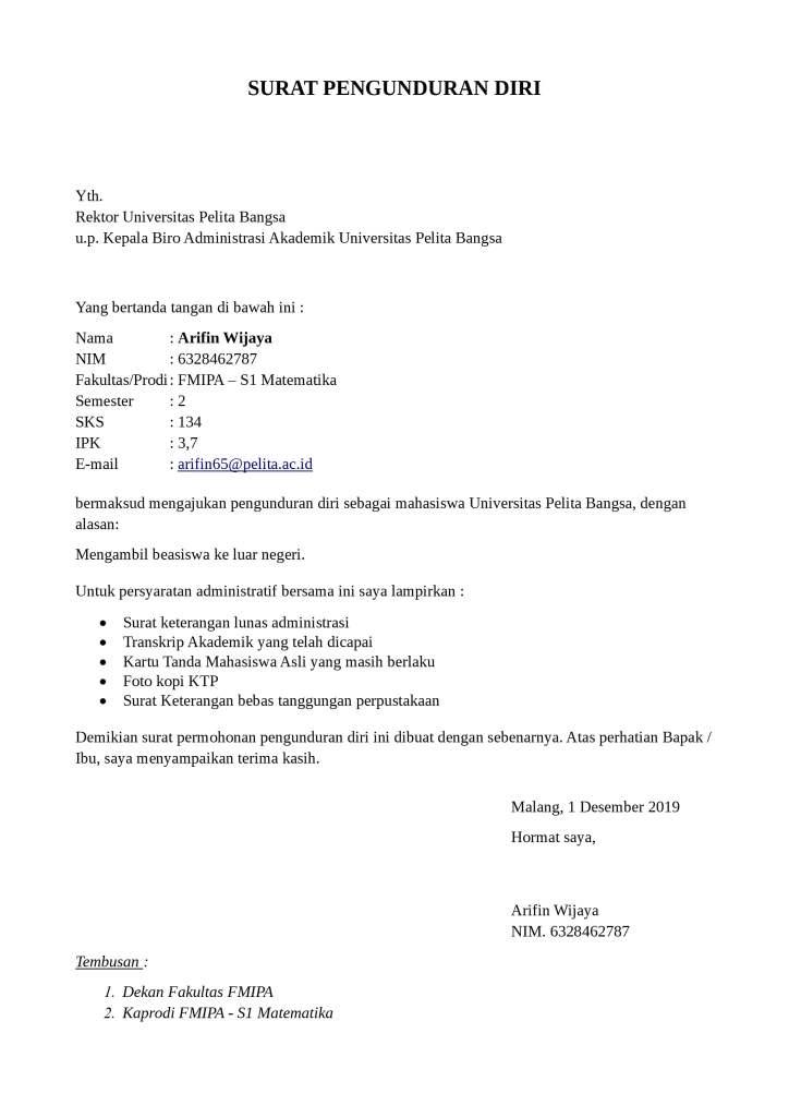 35 Contoh Surat Pengunduran Diri Resign Yang Baik Dan Jelas Lengkap