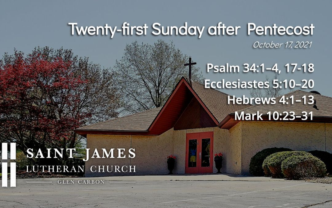 Upcoming worship services for Sunday