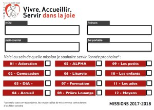 Service missions 2017-2018