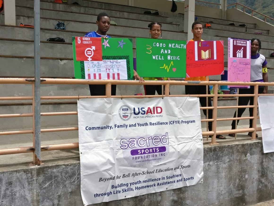 Sacred Sports Foundation educates Soufriere's Youth about the