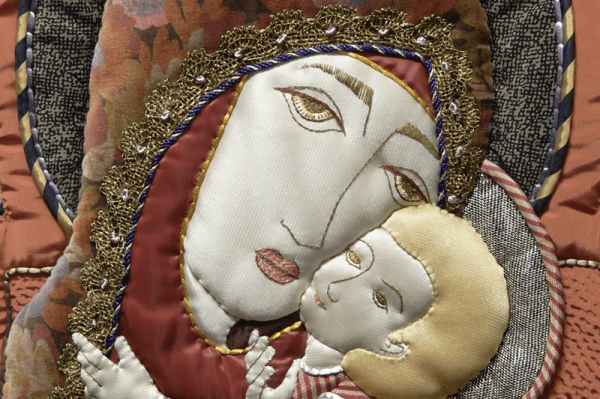 Detail of another work by Margaret Hays—Mother of Tenderness (1992). From the collection of the University of Dayton.