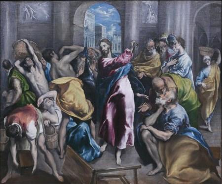 El Greco - Jésus Chasse les marchand du temple-National G - Londrespg