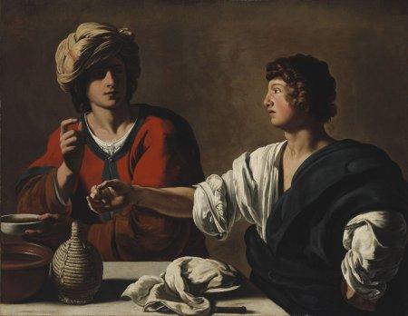 Caravagiste italien (anonyme), Jacob et Ésaü, vers 1625, Musée des Beaux-Arts, BudapestCaravagiste-italien-1625-ca_Jacob-et-Ésaü-24