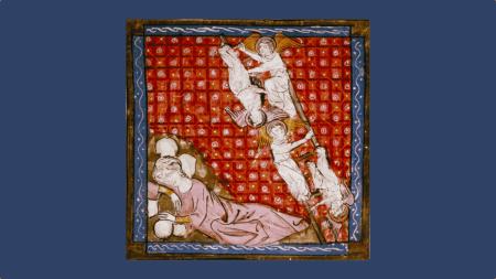 Échelle de Jacob-Bible-Historiale-Bodleian Library MS. Douce 211