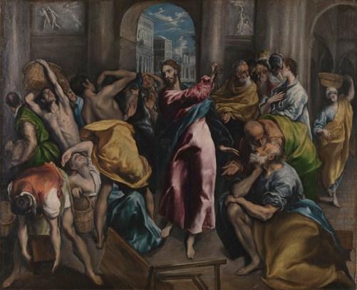 El Greco-Jesus chassant les marchands du temple