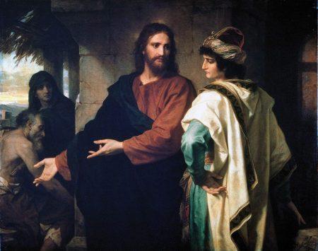 Heinrich Hoffman, le Christ et le jeune homme riche, 1889, Riverside Church, New York