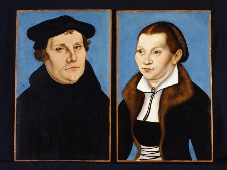 Lucas Cranach (1529). Martin Luther et Katharina von Bora, Galerie des Offices, Florence