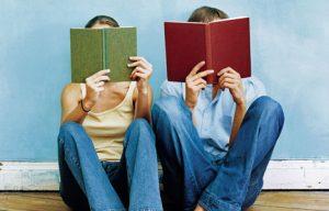 A couple reading
