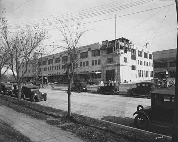 Griggs, Cooper & Company building during construction in 1924. Photo courtesy Minnesota Historical Society