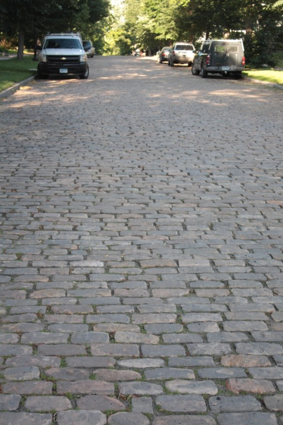 Granite cobblestones cover the 900 block of Osceola.