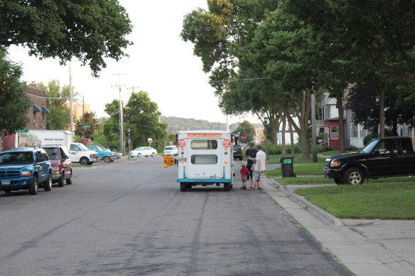 One of the best sights on a summer evening is the ice cream truck!