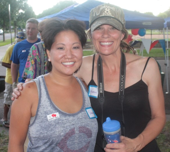 Neighbors Shawna Klatt (left) and Kristin Howatt (right) planned and hosted the block party.