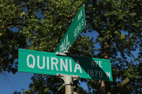 Quirnia Avenue is unremarkable other than being the only street in Saint Paul that begins with a Q. Quirnia Avenue is a one block long street that intersects St. Paul and Edgcumbe.