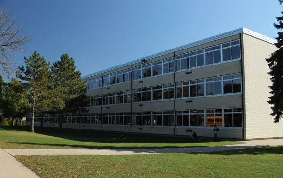 The Montreal Avenue side of Highland Park Middle School.