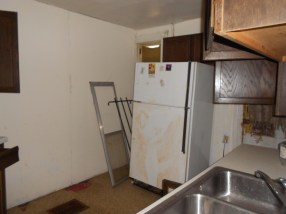 Everything in the kitchen was removed during the clean up of the house.