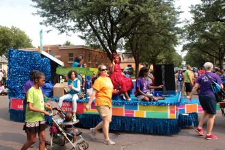 One of the many floats, this one representing Saint Paul Public Schools.