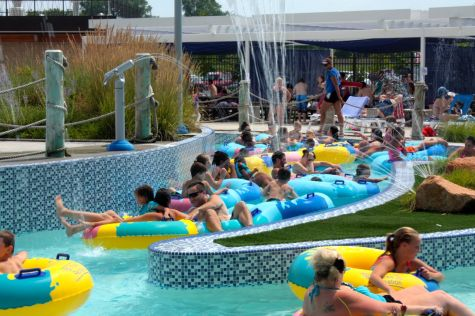 A crowded section of the 400 foot long Lazy River.