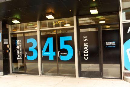 The entrance to 345 Cedar Street.