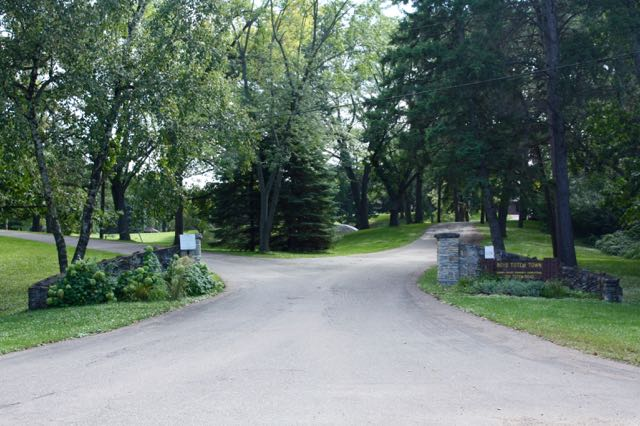 The short road leading into Boys Totem Town.