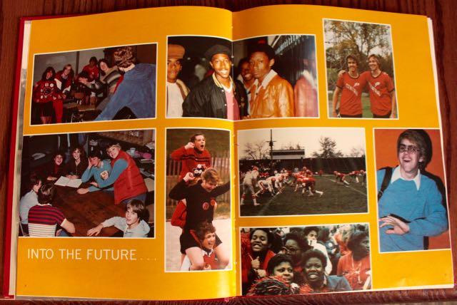 The optimism a brought on by a new school building filled the 1980 Central yearbook.