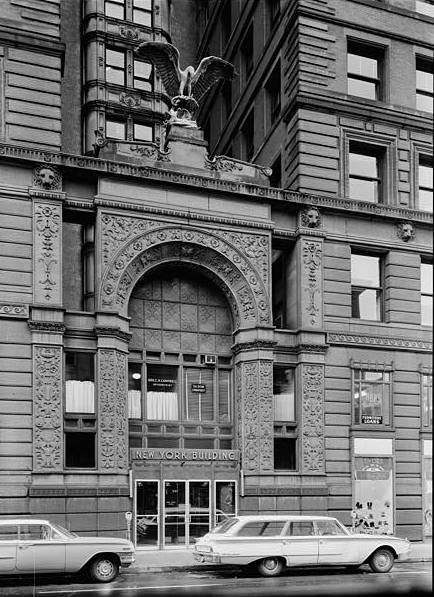 The Eagle above the entrance to the New York Life Building in Downtown Saint Paul. Photo courtesy Minnesota Historical Society.