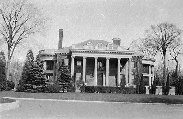 It is impossible to get a sense of the size of the Stonebridge mansion from this shot from April 1932. Courtesy MNHS.