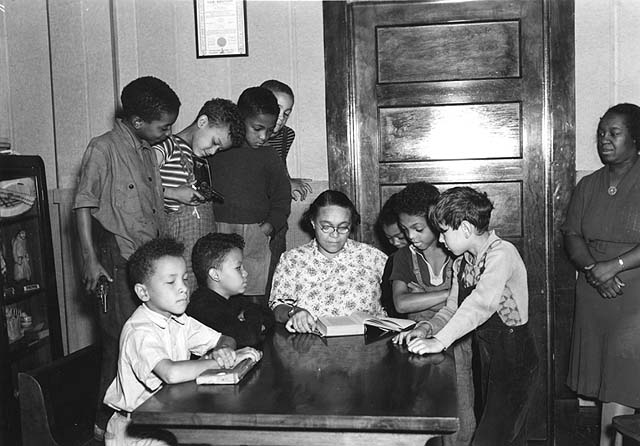 Students and teachers in a classroom at Hallie Q. Brown Center circa 1936. Courtesy Minnesota Historical Society