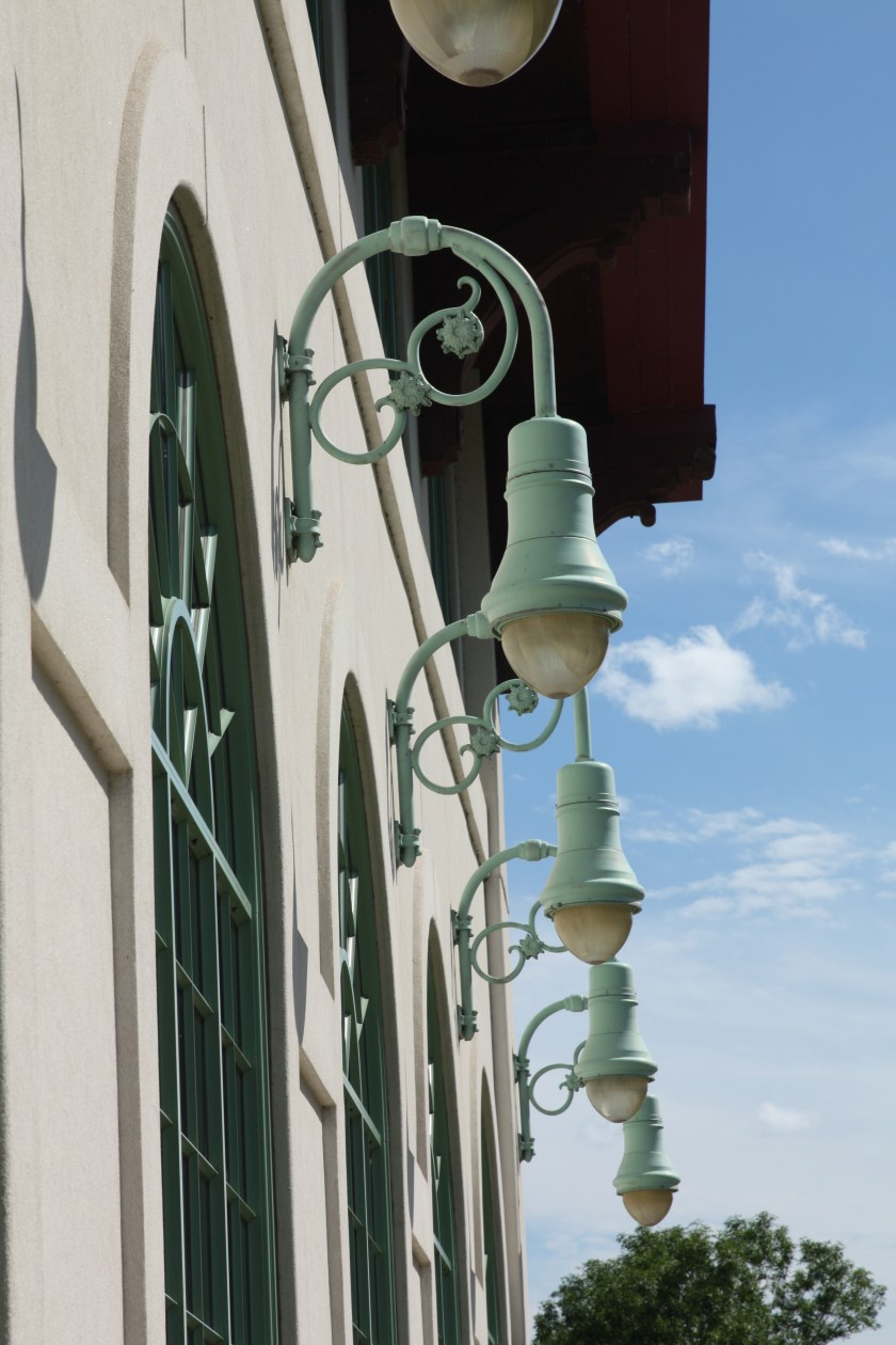 The attention to the details, such as you see in the lights, contribute to making the Pavilion such a delightful building.