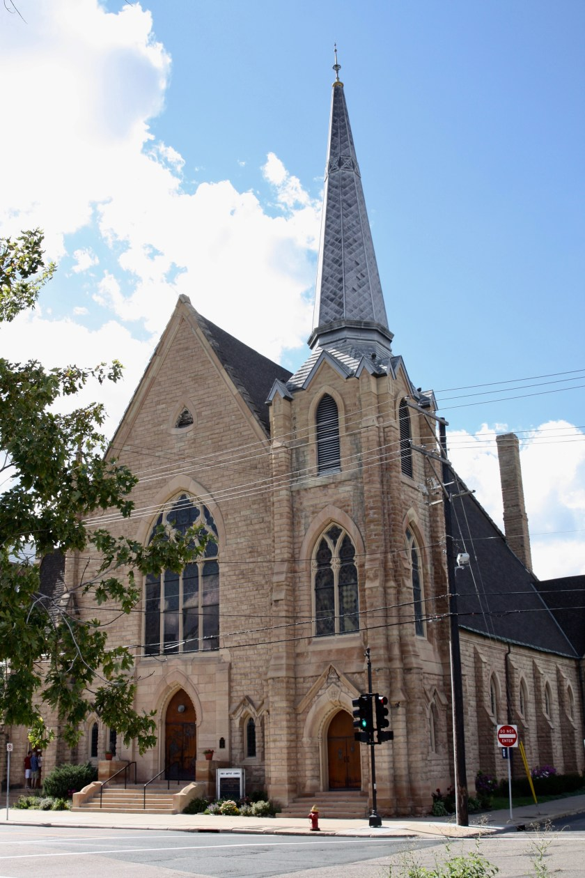 First Baptist Church at 499 Wacouta was dedicated in May of 1875.