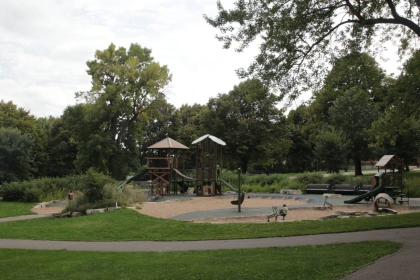 Like any good park, Indian Mounds has a playground and picnic areas.