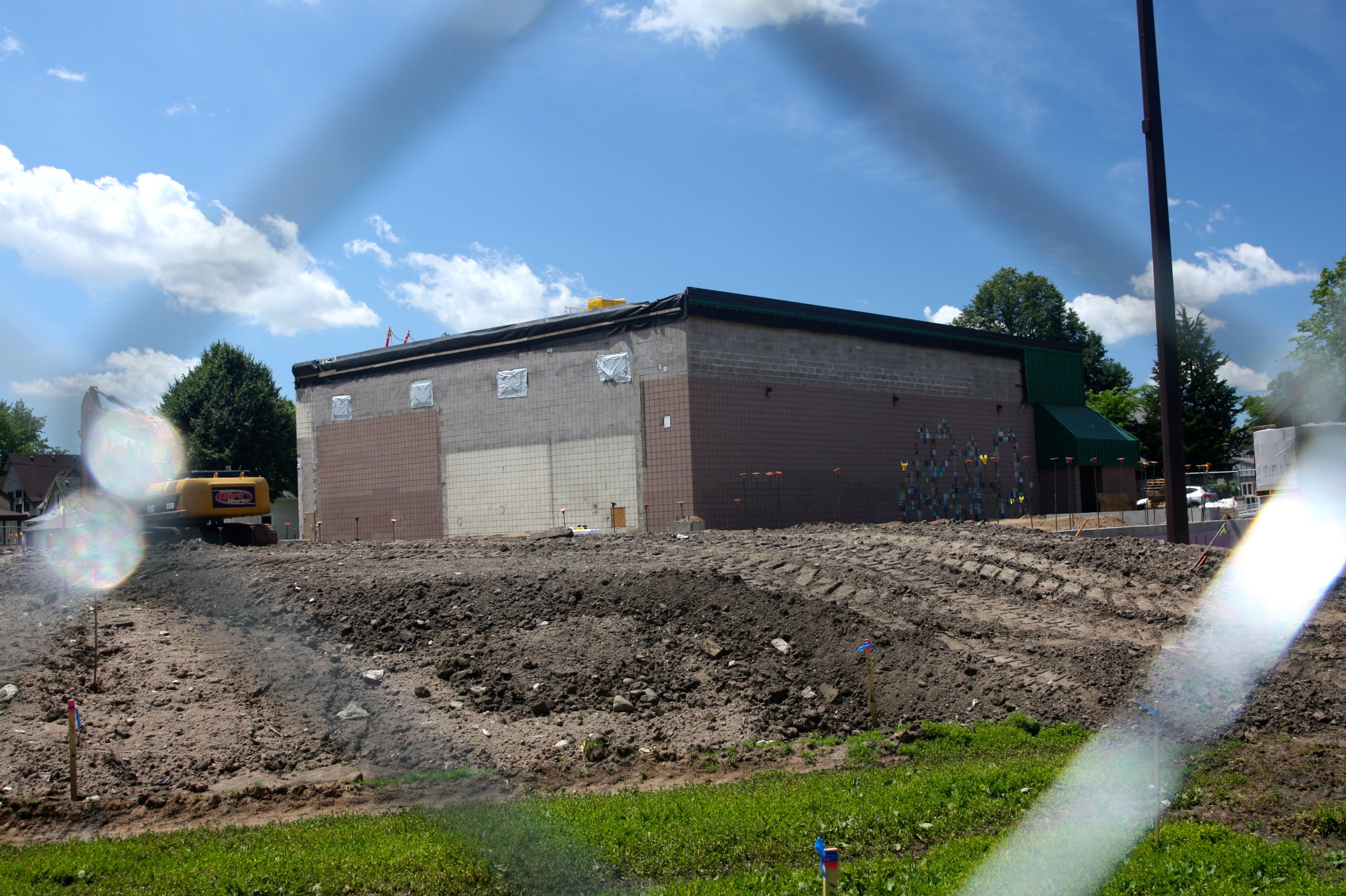 Work began this past spring on the expansion and remodeling of the Palace Recreation Center. This is the part of the original structure, built in 1974, that will be part of the improved rec center.
