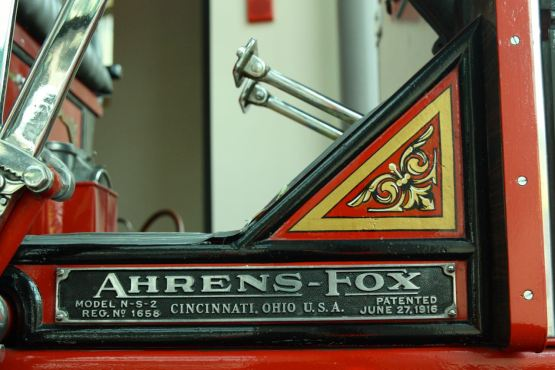 The pumper still shines, almost like when it came off the assembly line. The two silver leavers are foot pedals.