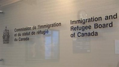 Wall sign for the Canadian Immigration and Refugee Board. (Photo courtesy of Radio Canada International)