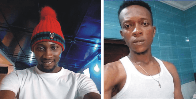The alleged criminals Chidebere Michael Opara and Oluwaseun Emmanuel, who are suspected members of Black Axe, a dreaded Nigerian criminal network, are said to have engaged in kidnapping, blackmail and extortion of people including gay men in Nigeria. These are the photos they use on Facebook, which might or might not be fakes.