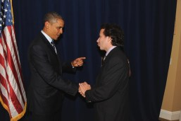 Augie Ribeiro with Obama